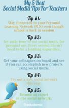 My 5 Best Social Media Tips For Teachers | Educational Technology - Yeshiva Edition | Scoop.it