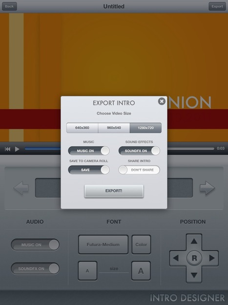 Intro Designer for iPad: Free iOS iMovie Video Effects | Ipads in education | Scoop.it