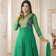 Green Pure Georgette Shweta Tiwari Salwar Kameez | Strollay.com | Scoop.it