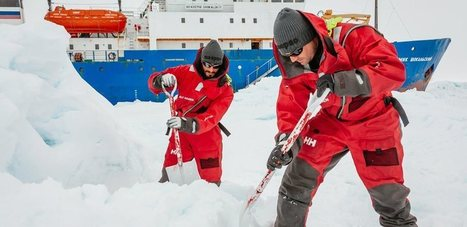 An icebreaker gets stuck in the ice, photos are used to mislead | Sustain Our Earth | Scoop.it