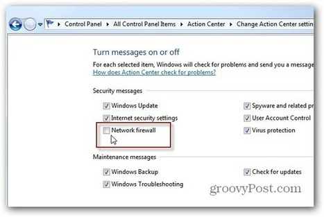 Windows 7 - Disable the Firewall Notification | Time to Learn | Scoop.it