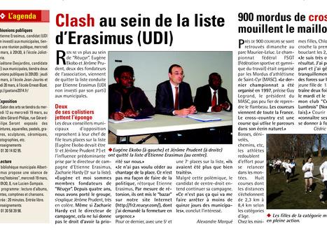 Eugène Ekobo et Jérôme Prudent quittent Réucyr et piratent le site web de Réucyr   Reucyr, liste candidate Centre-Droite républicaine aux élections municipales 2014 de Saint-Cyr-L'Ecole (Yvelines)   Scoop.it