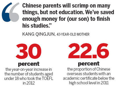 Chinese students head overseas at younger ages | Education Business | Scoop.it