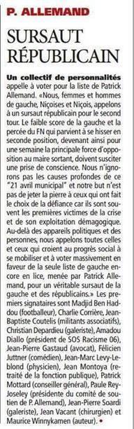 """""""Sursaut Républicain""""   Nice 2014, Un autre Avenir pour Nice avec Patrick Allemand   Scoop.it"""
