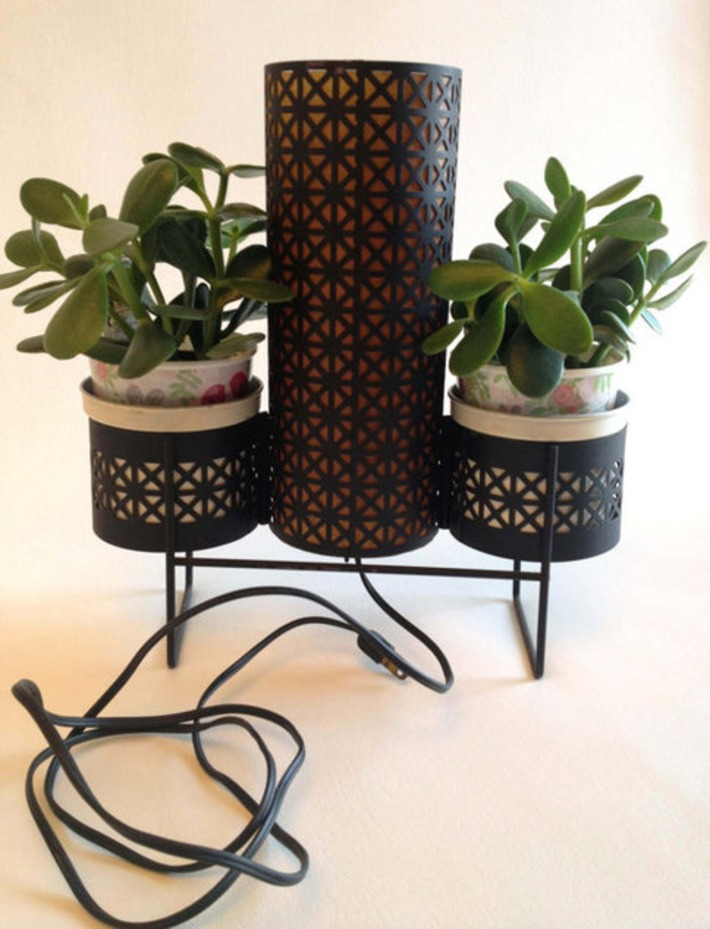 Table Lamp with Two Planters | Kitsch | Scoop.it