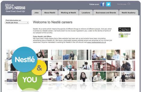 How Nestle Use Social Media For Recruitment [Case Study]   E-réputation et management des RH   Scoop.it