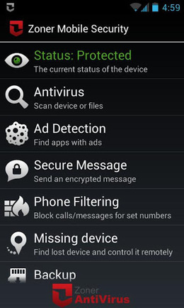 Zoner Mobile Security v1.1.0 | ApkLife-Android Apps Games Themes | mobile security | Scoop.it