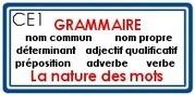 GR - La nature des mots | Classe de CE1 | Scoop.it