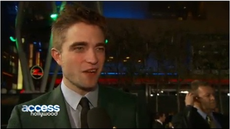 Access Hollywood: Robert Pattinson Explains His Interesting Style Choice At The Breaking Dawn - Part 2 Premiere (VIDEO) | Robert Pattinson Daily News, Photo, Video & Fan Art | Scoop.it