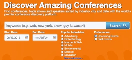The Professional Conferences and Events Discovery Engine: Conference Hound | Content Curation World | Scoop.it