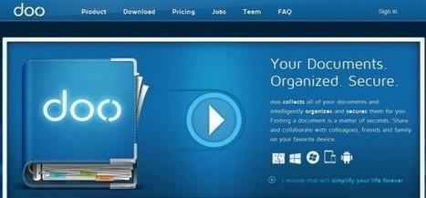 Doo.net importa, reconoce su contenido y organiza de forma automática tus documentos | Educación a Distancia (EaD) | Scoop.it