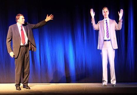 Man Stands Next to Hologram | 3D Holographic Images in Education | Scoop.it