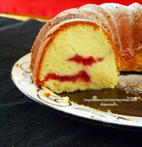 Orange Strawberry Swirl Cream Cheese Bundt Cake #BundtaMonth | Baker Street | WellnessNEWS | Scoop.it