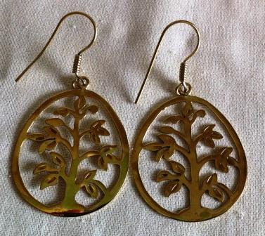 Fair trade Cambodia. Jewellery made from recycled brass bomb shell tree of life earrings, ethically handcrafted | Enviroment | Scoop.it