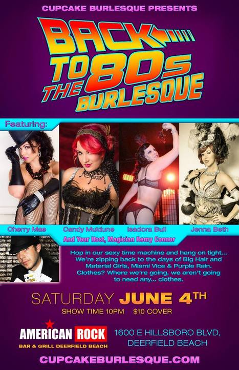 Cupcake Burlesque Presents: Back To The 80s Burlesque! | Business News & Finance | Scoop.it