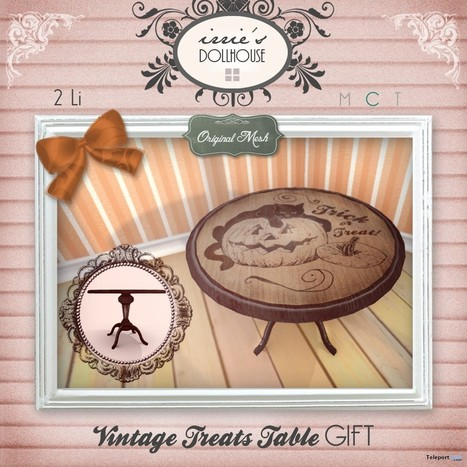 Vintage Treats Table Group Gift by irrie's Dollhouse | Teleport Hub - Second Life Freebies | Second Life Freebies | Scoop.it