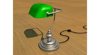 Lampe de bureau (avocat, banquier) 3D | 3D Library | Scoop.it