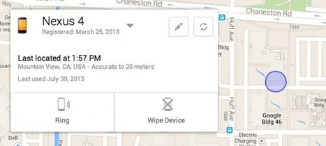 Google Launches Android Device Manager for Tracking Lost Phones | Educational Technology - Yeshiva Edition | Scoop.it