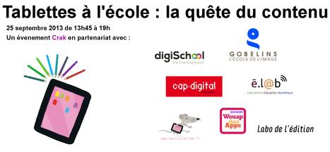 Tablettes à l'école : la quête du contenu | TICE en tous genres éducatifs | Scoop.it