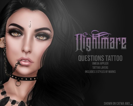 Questions Face Tattoo 3 Styles Group Gift by nightmare | Teleport Hub - Second Life Freebies | Second Life Freebies | Scoop.it