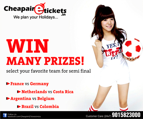 WIN MANY PRIZES - SELECT YOUR FAVORITE TEAM FOR SEMI FINAL | travel agent in noida | Scoop.it