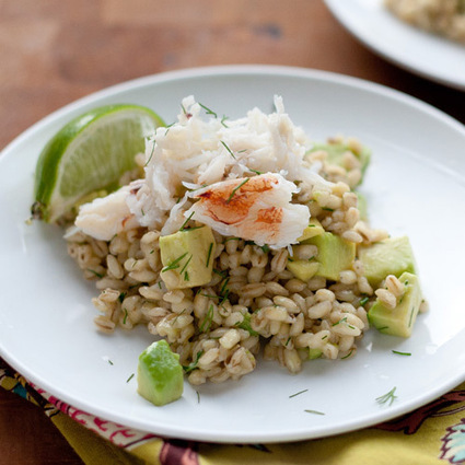 Crab Avocado Barley Risotto - Clean Eating | SEAFOOD RECIPES | Scoop.it