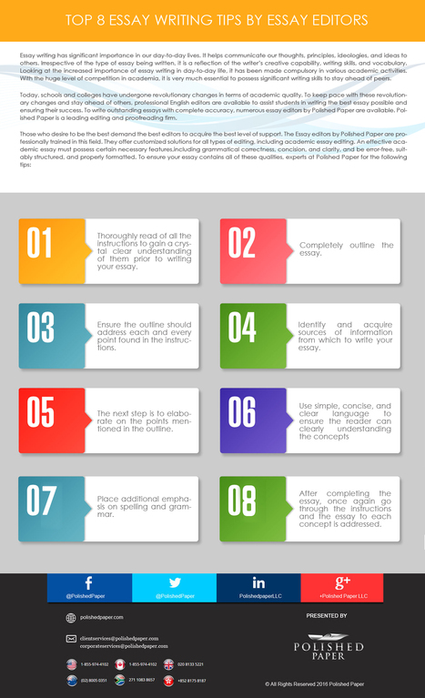 Top 8 Essay Writing Tips by Essay editors | Academic Editing Service | Scoop.it
