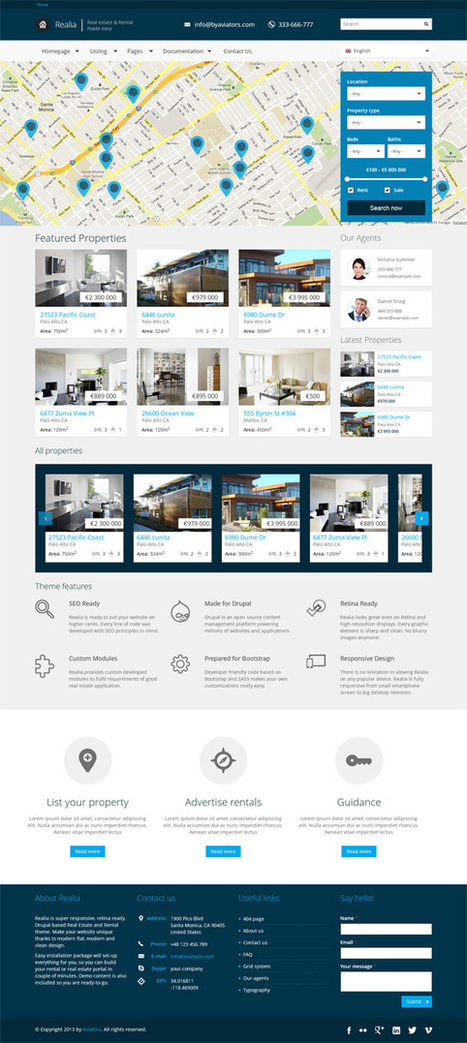 Realia, #Drupal Retina Ready Real Estate Theme | Premium Download | DataViz | Scoop.it