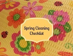 Printable: Spring Cleaning Checklist | Printables | Scoop.it