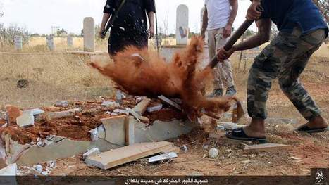 PHOTOS: ISIS Militants Destroy Christian Graves in Benghazi, Libya | Saif al Islam | Scoop.it