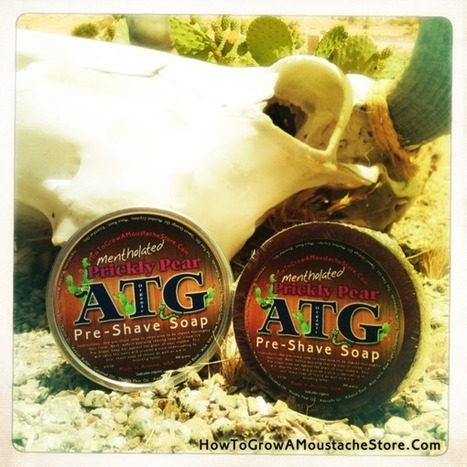 Prickly Pear ATG Pre-Shave Soap (Mentholated, Western Barber Scent) | Wet Shaving | Scoop.it