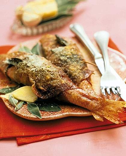 Triglie alla Marchigiana: Red Mullet with Prosciutto and Rosemary | Le Marche and Food | Scoop.it