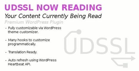 UDSSL Now Reading WordPress Widget (Widgets)   Best Wordpress Plugins   Scoop.it