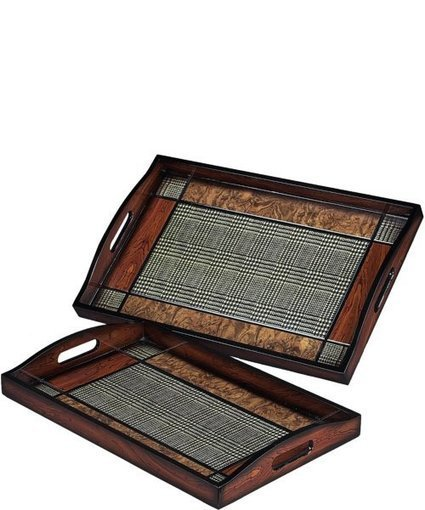 """Sterling 13""""h Trays Brown/Colored 