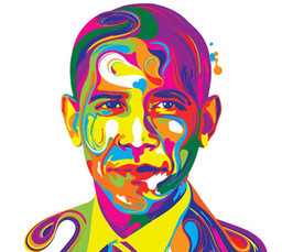 "Illustrators vote Obama - Fabulous Noble | CF Art Dept ""stuff"" 
