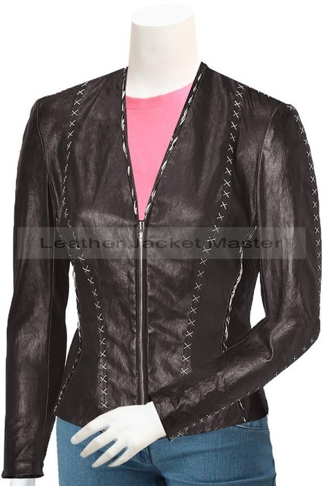 Women's Lovely Fitted Leather Jacket - Guile | leather Craze | Scoop.it
