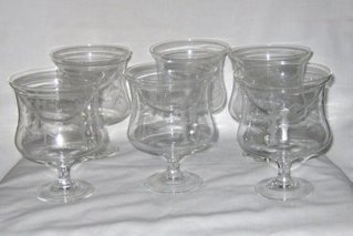 6 Vintage Etched Glass Seafood Cocktail Icers with Inserts   Vintage Collectibles   Scoop.it