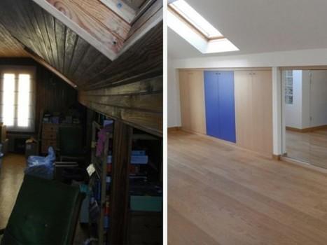 Des combles transformés en une suite parentale ultra fonctionnelle | Construire sa maison avec un architecte | Scoop.it