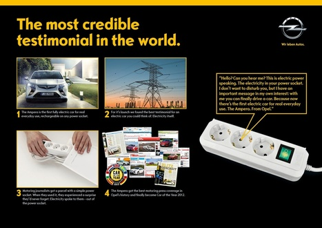 Opel Ampera: The Most Credible Testimonial in the World | Ads of the World™ | MdO | Scoop.it