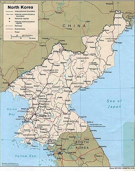 Map of North Korea   North Korea   Scoop.it