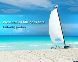 Paradise Beach PowerPoint Template with Sailboat Picture   Free Powerpoint Templates   team work   Scoop.it