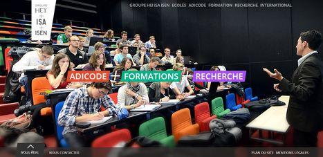 Le Groupe HEI ISA ISEN met en ligne son tout nouveau site web. | ADICODE & Co | Scoop.it