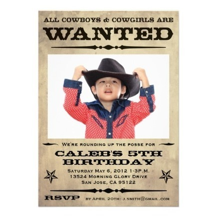 Wanted Poster Kids Party Invitations from Zazzle.com | Altered Space Design | Scoop.it