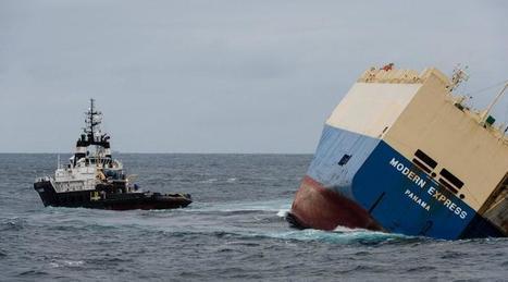 Modern Express. Le cargo remorqué avec succès au large de nos côtes | Au hasard | Scoop.it