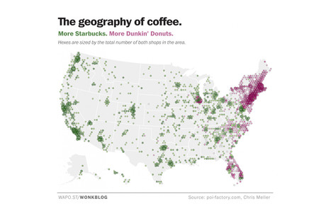 Map: How coffee splits the United States in half ... | Coffee News | Scoop.it