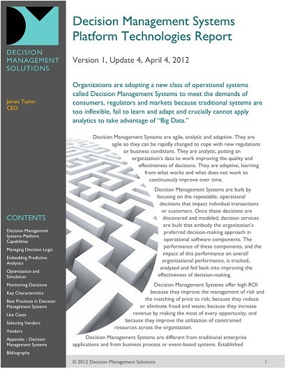 Decision Management Technologies Report | Complex Insight  - Understanding our world | Scoop.it