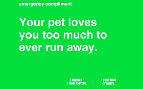 Feeling Down? The 'Emergency Compliment' Website Will Cheer You Up   Prozac Moments   Scoop.it
