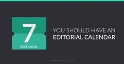 7 Reasons You Should Have an Editorial Calendar | Photography | Scoop.it