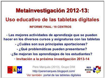 Educación tecnológica: Metainvestigación DIM sobre el uso de tabletas digitales | Educación y herramientas TIC | Scoop.it