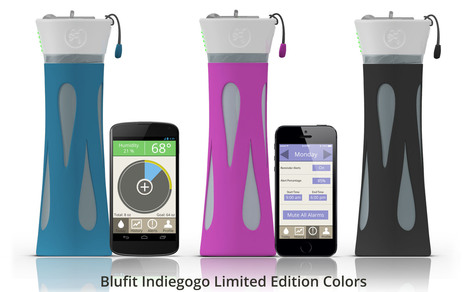 BluFit water bottle aims for a smarter approach to rehydration | Quantified Self | Scoop.it
